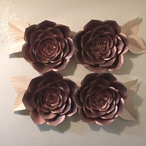 Beautiful Paper Flower Set